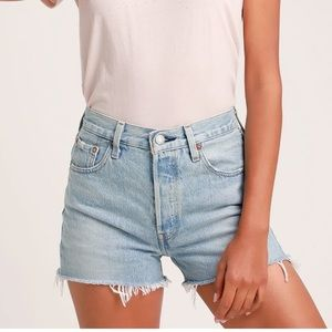 501® High Rise Cut-Off Shorts NWT